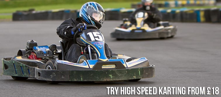 Try high speed karting from £18